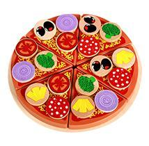 Kid Wooden Pizza Toy Cutting