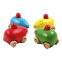 Wooden Toy Mouse Driven Car